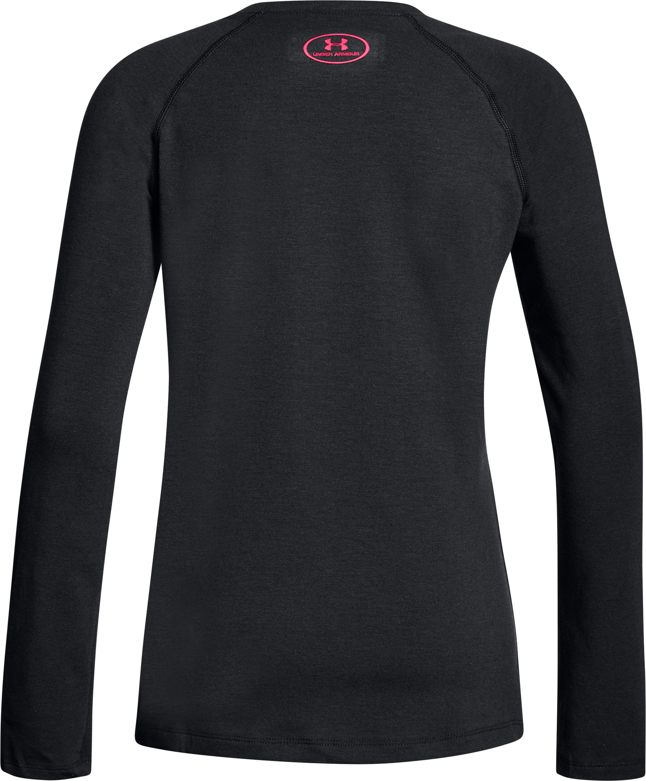 Girls' UA Believe In Your Selfie Long Sleeve, Black ,