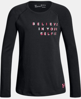 New Arrival Girls' UA Believe In Your Selfie Long Sleeve  1 Color $19.99