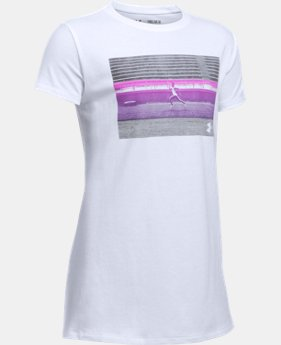 She Plays We Win UA Track T-Shirt  1 Color $19.99