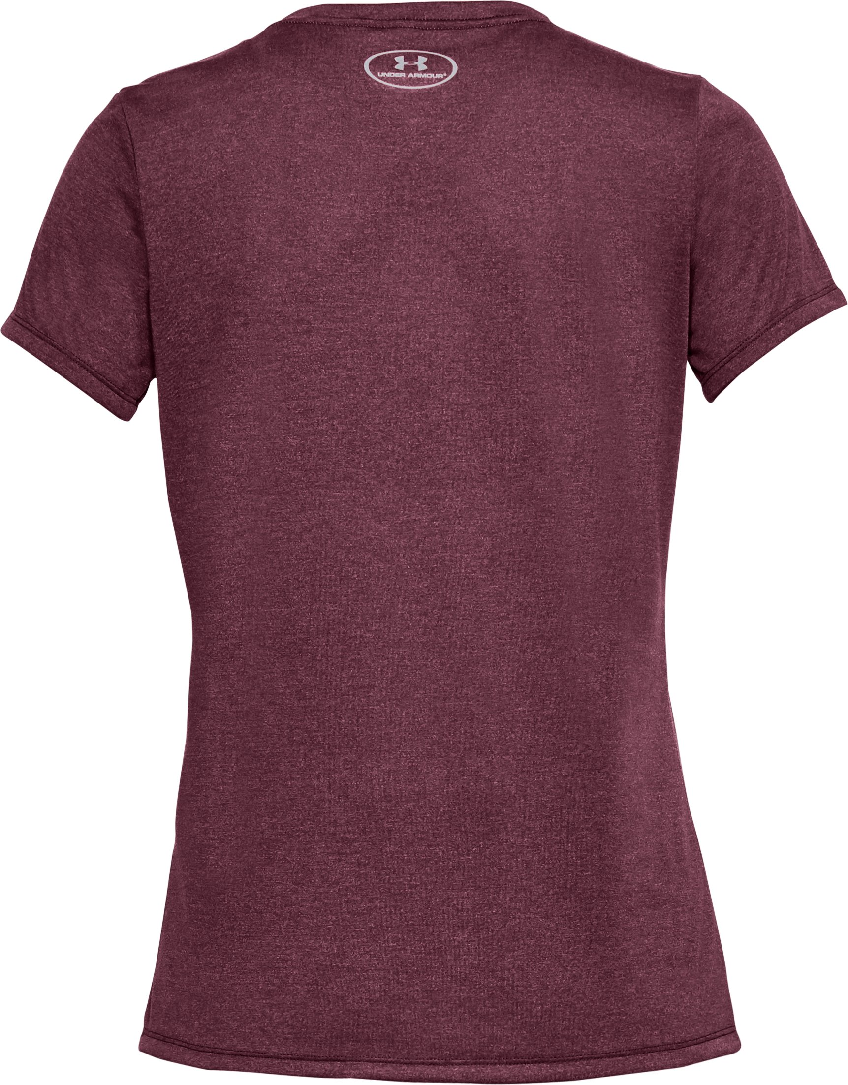 Women's UA Threadborne™ Heathered Short Sleeve, RAISIN RED,