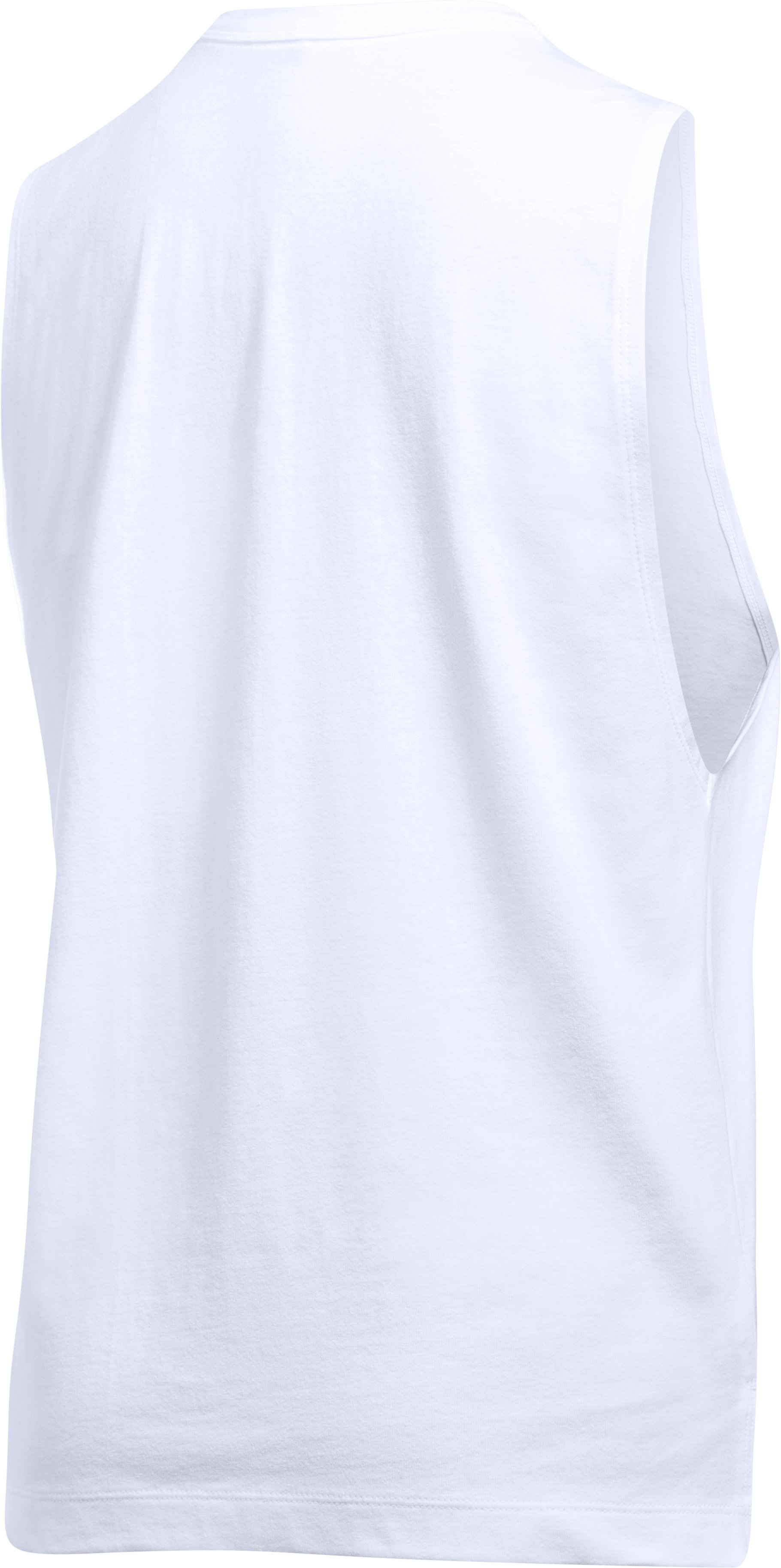 Women's UA x Project Rock Muscle Tank, White,