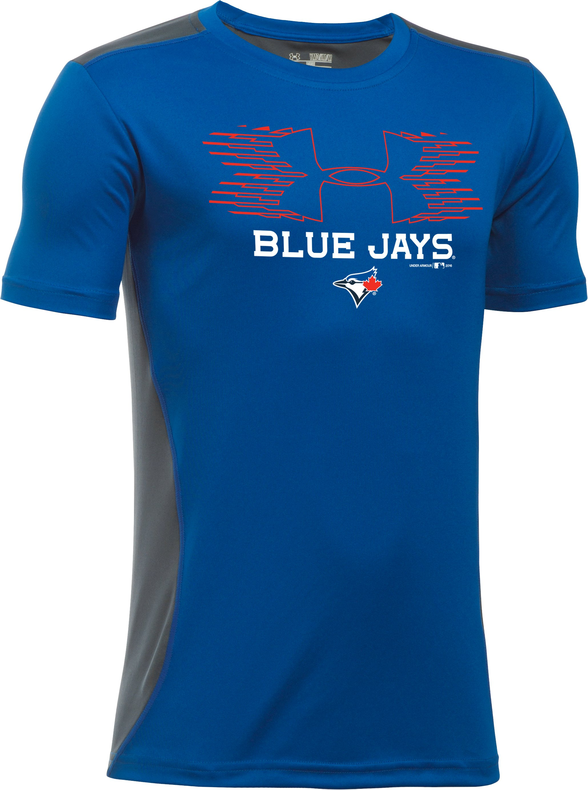 Boys' Toronto Blue Jays UA Tech™ Blocked T-Shirt, Royal,