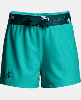 Girls' UA Kick it Shorts  5  Colors Available $18.75 to $18.99