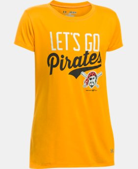 New to Outlet Girls' Pittsburgh Pirates UA Tech™ T-Shirt  1 Color $17.99
