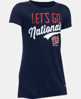 Girls' Washington Nationals UA Tech™ T-Shirt  1 Color $24.99