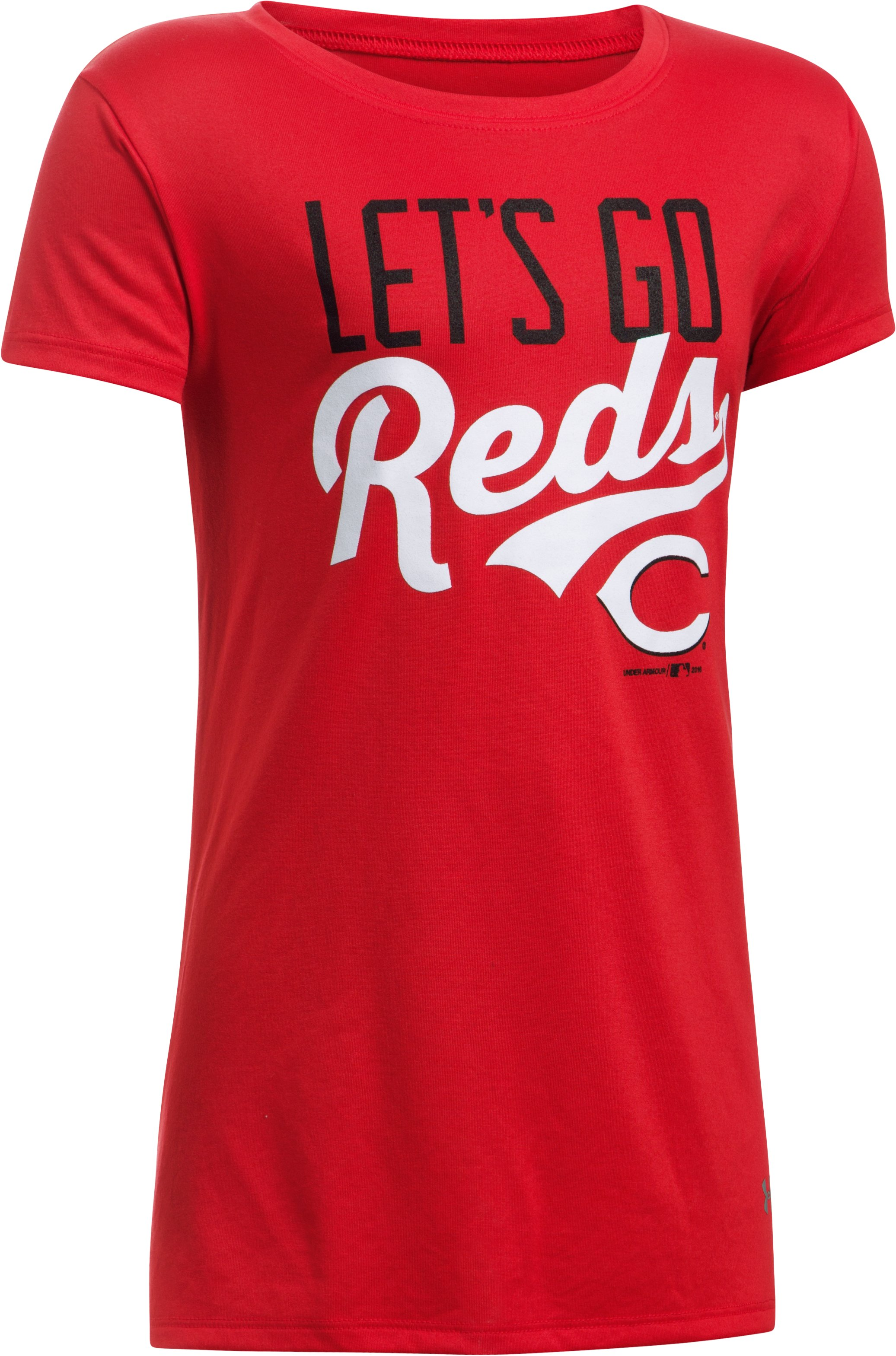 Girls' Cincinnati Reds UA Tech™ T-Shirt, Red, undefined