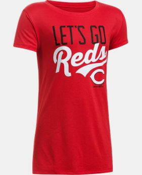 New to Outlet Girls' Cincinnati Reds UA Tech™ T-Shirt  1 Color $17.99