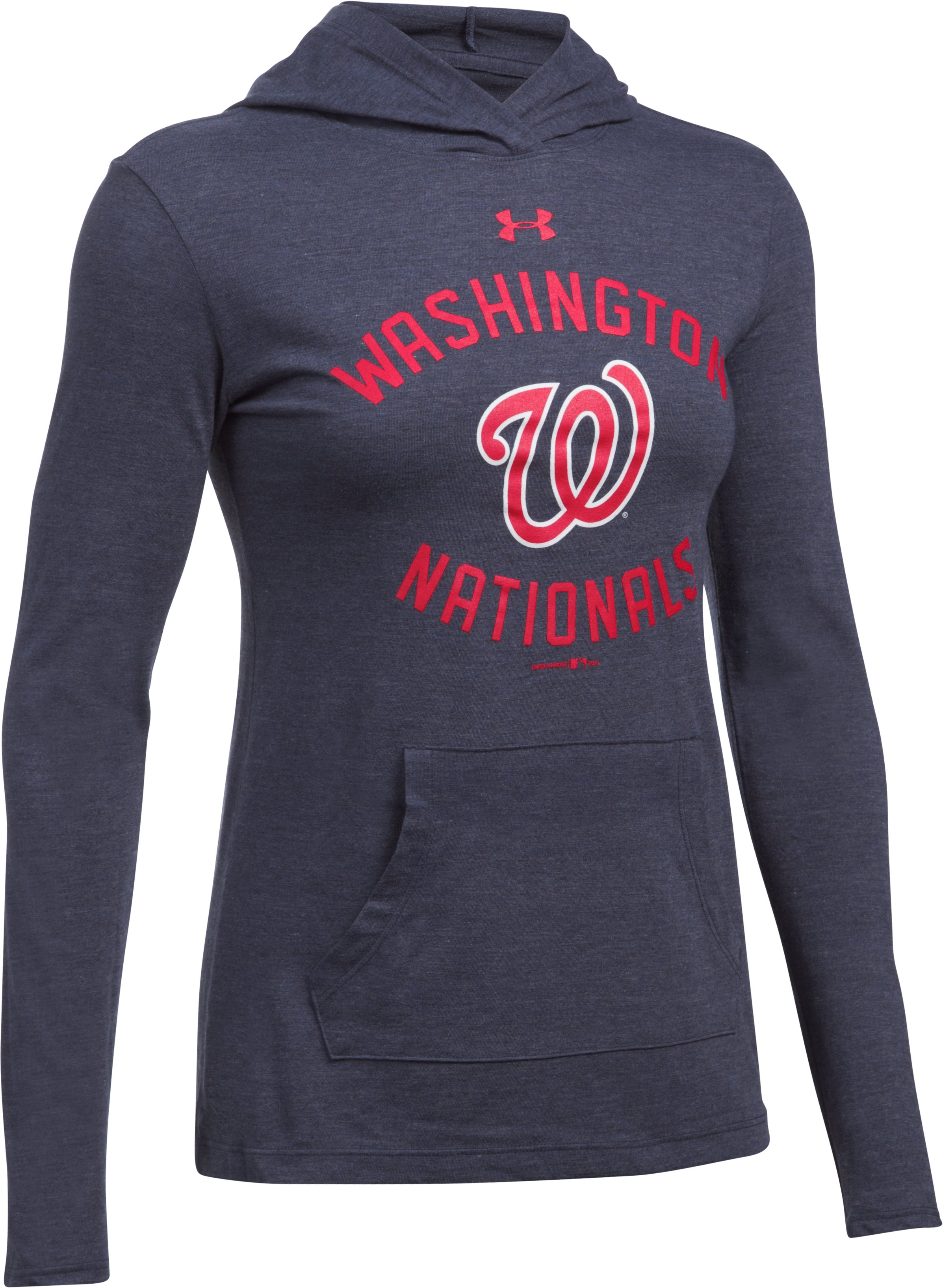 Women's Washington Nationals UA Charged Cotton® Tri-Blend Hoodie, Midnight Navy