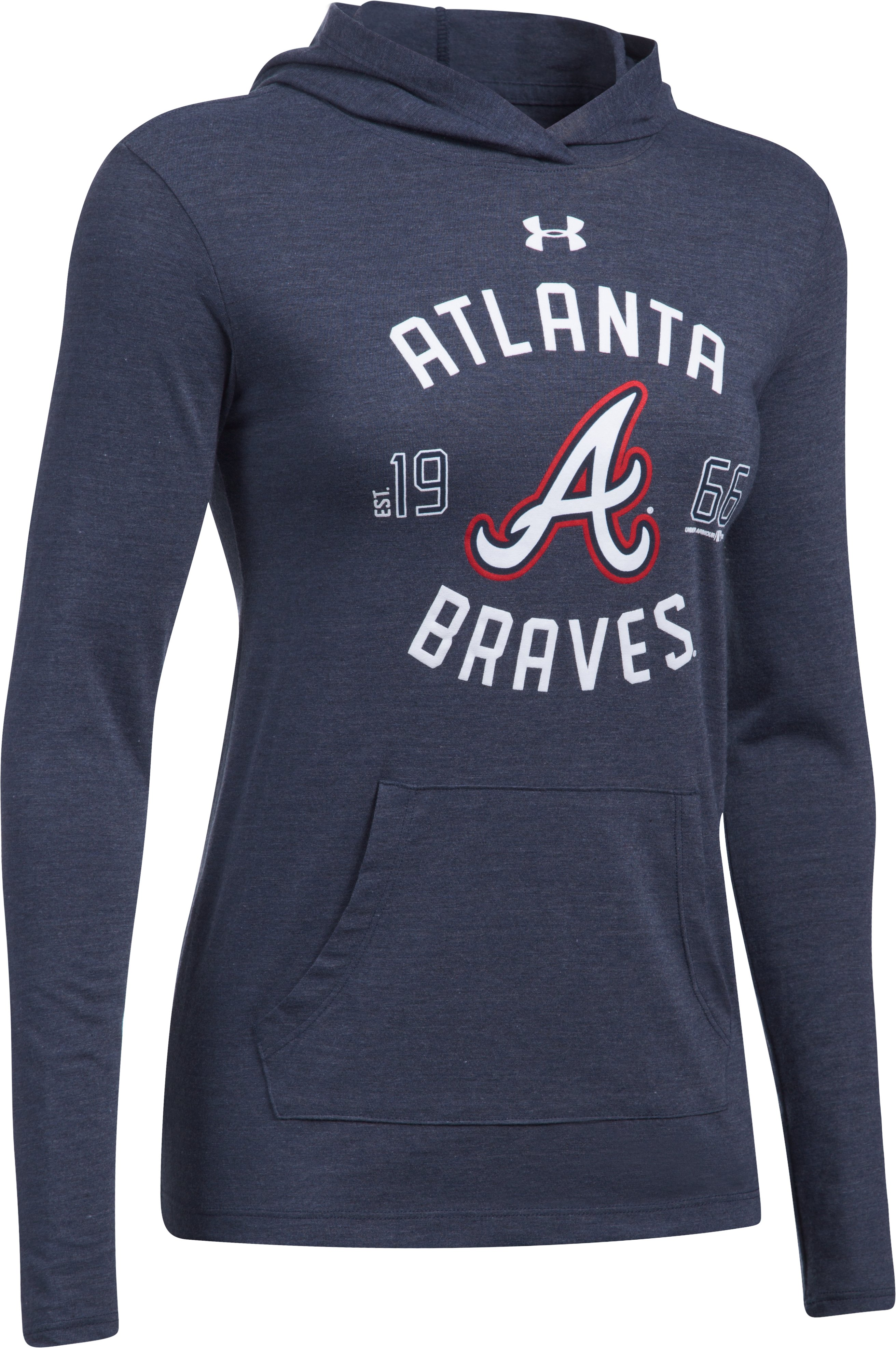 Women's Atlanta Braves UA Charged Cotton® Tri-Blend Hoodie, Midnight Navy,