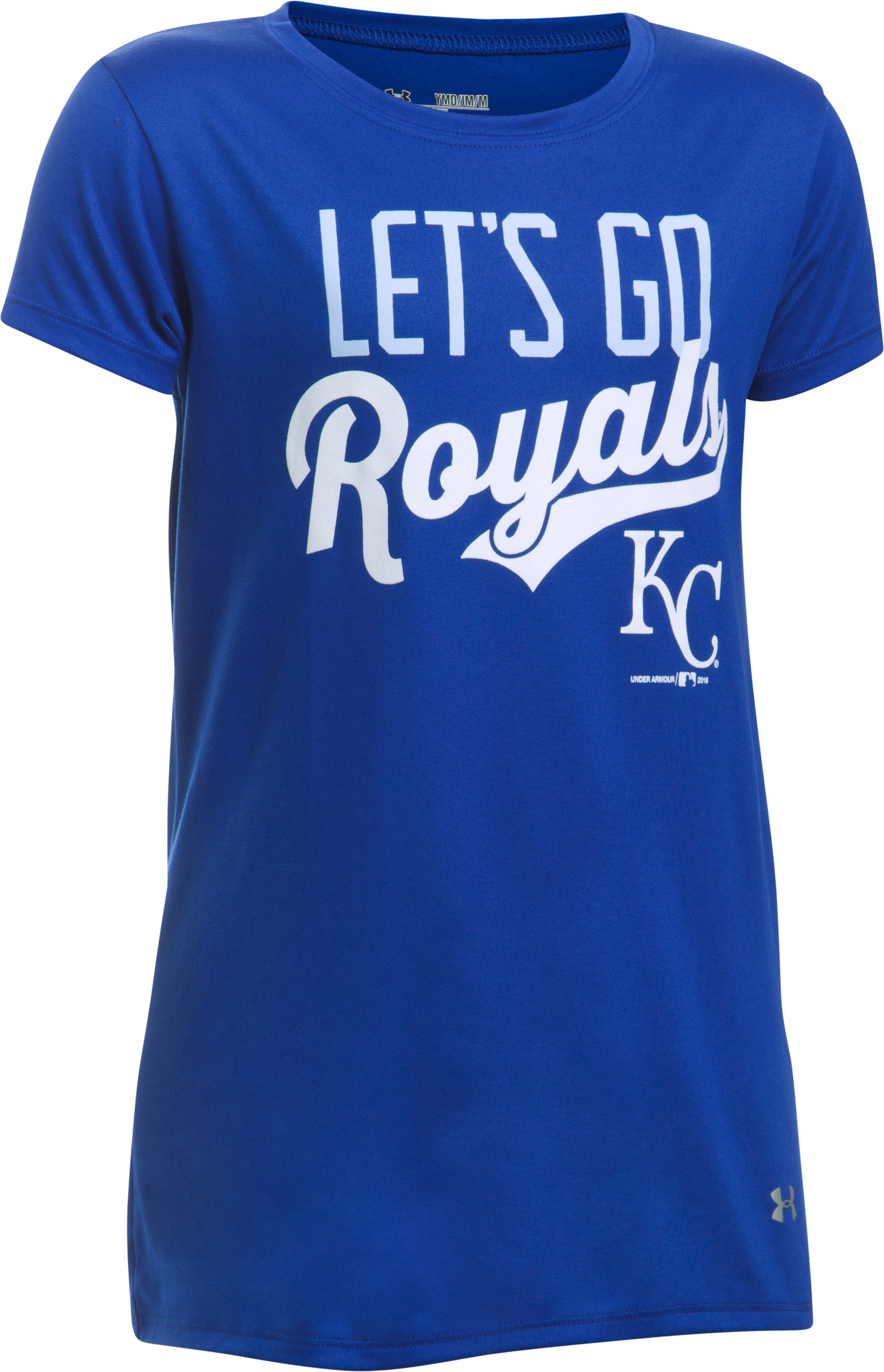 Girls' Kansas City Royals UA Tech™ T-Shirt, Royal, undefined
