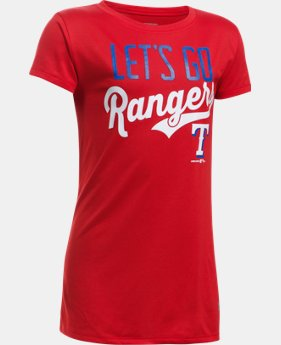 New to Outlet Girls' Texas Rangers UA Tech™ T-Shirt  1 Color $17.99