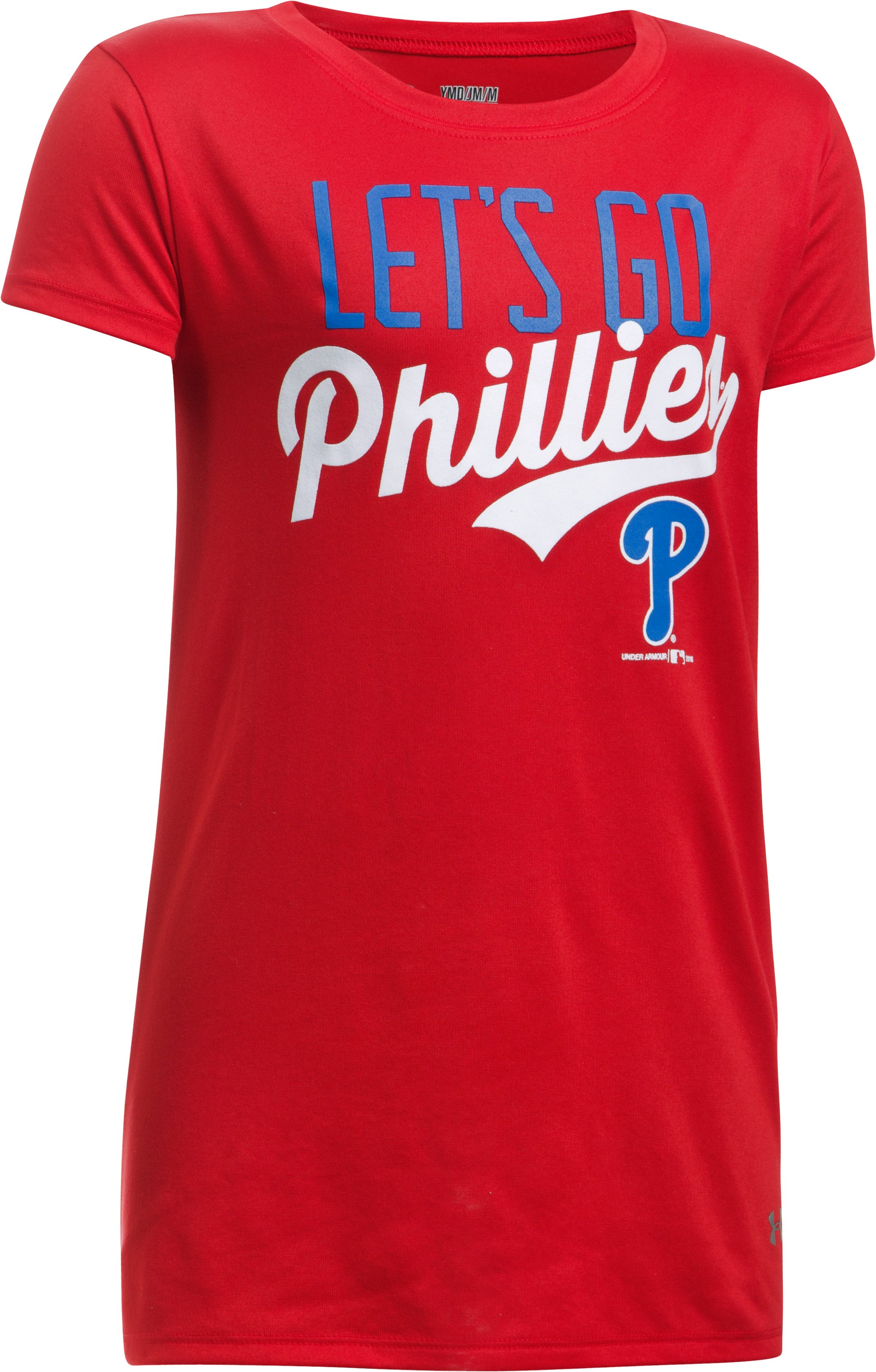 Girls' Philadelphia Phillies UA Tech™ T-Shirt, Red, undefined