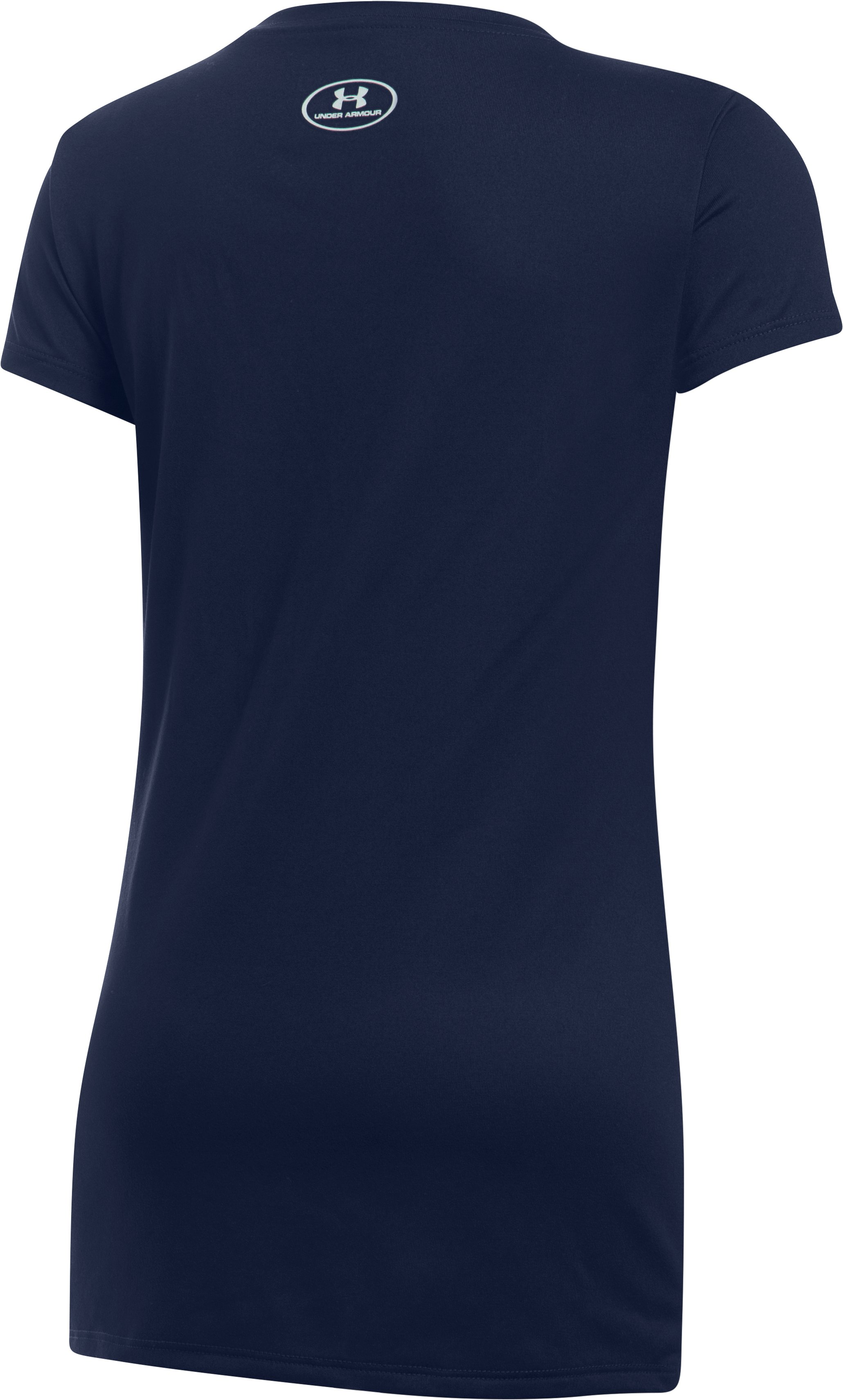 Girls' Houston Astros UA Tech™ T-Shirt, Midnight Navy,