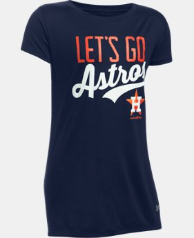 Girls' Houston Astros UA Tech™ T-Shirt LIMITED TIME: FREE U.S. SHIPPING 1 Color $24.99