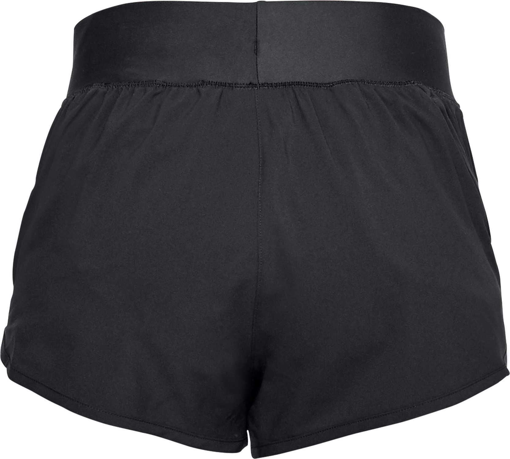 Women's UA Launch Tulip Speedpocket Shorts, Black ,