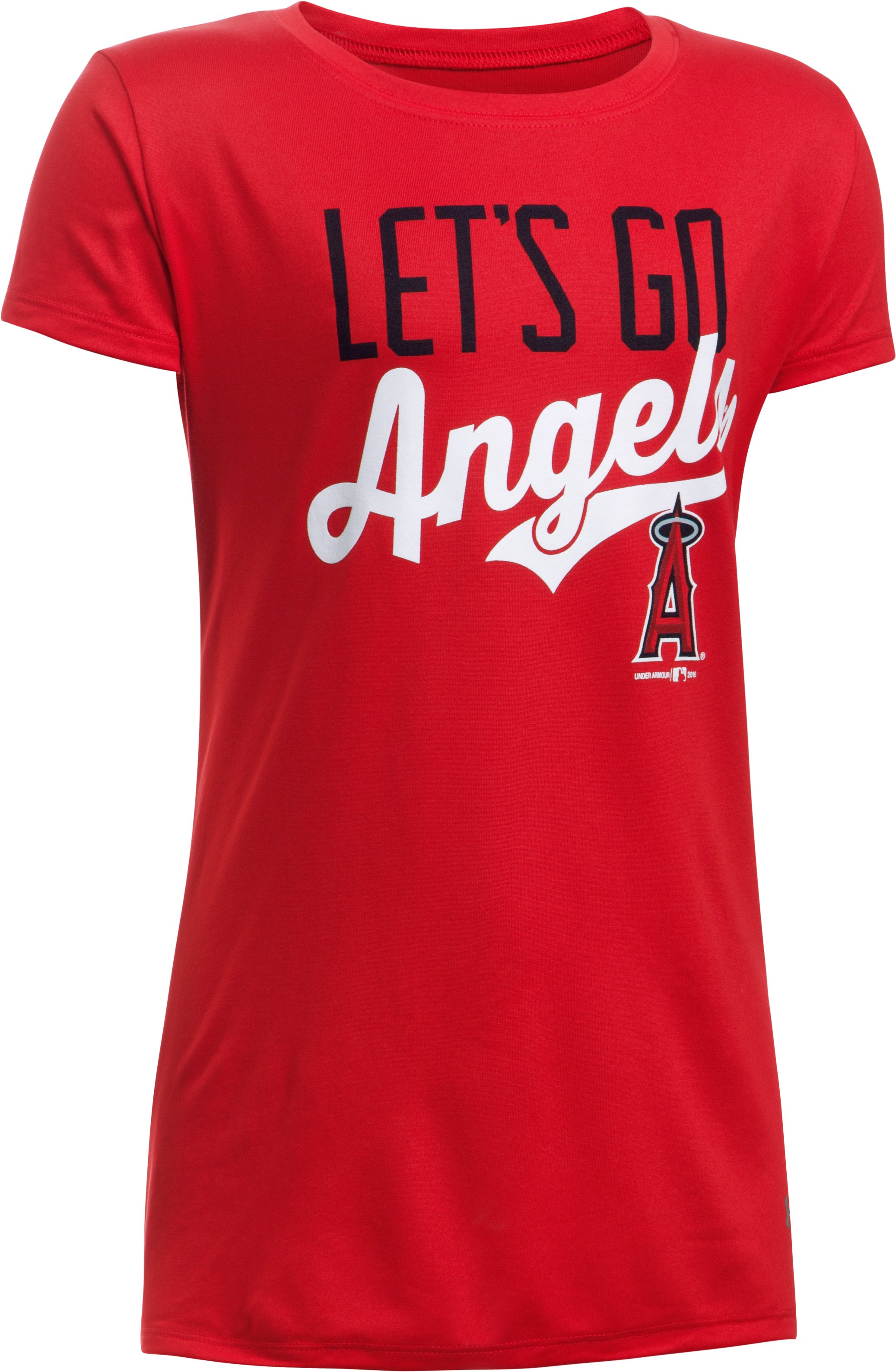 Girls' Los Angeles Angels UA Tech™ T-Shirt, Red,