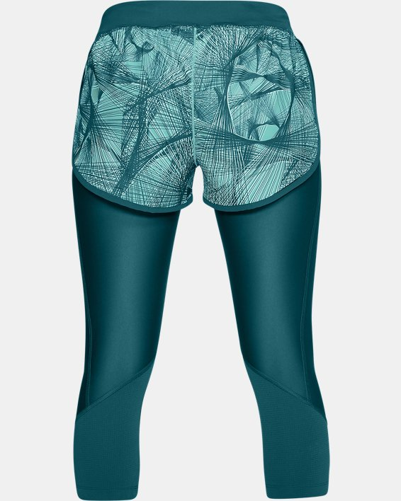 Women's UA Armour Fly-Fast Printed Shapri, Green, pdpMainDesktop image number 4