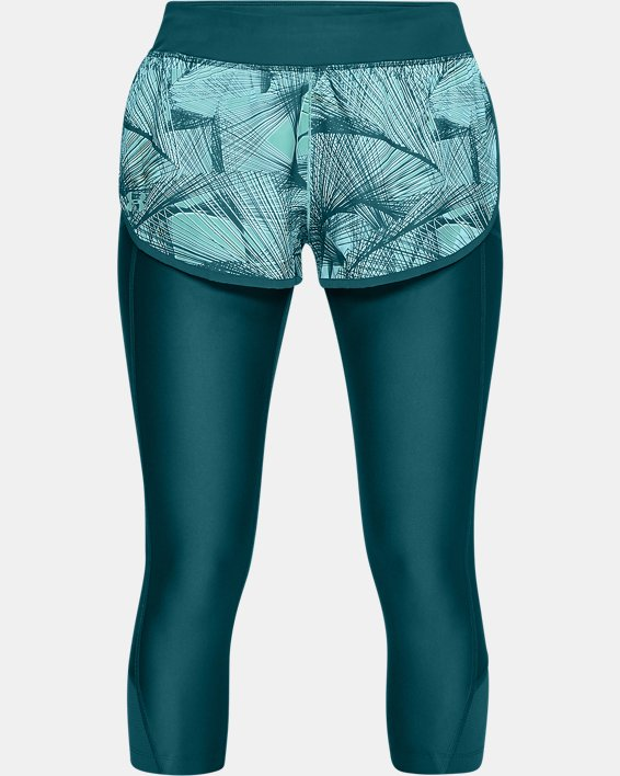 Women's UA Armour Fly-Fast Printed Shapri, Green, pdpMainDesktop image number 3