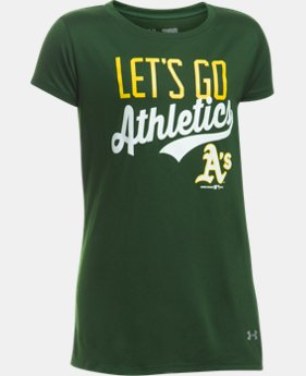 New to Outlet Girls' Oakland Athletics UA Tech™ T-Shirt  1 Color $17.99