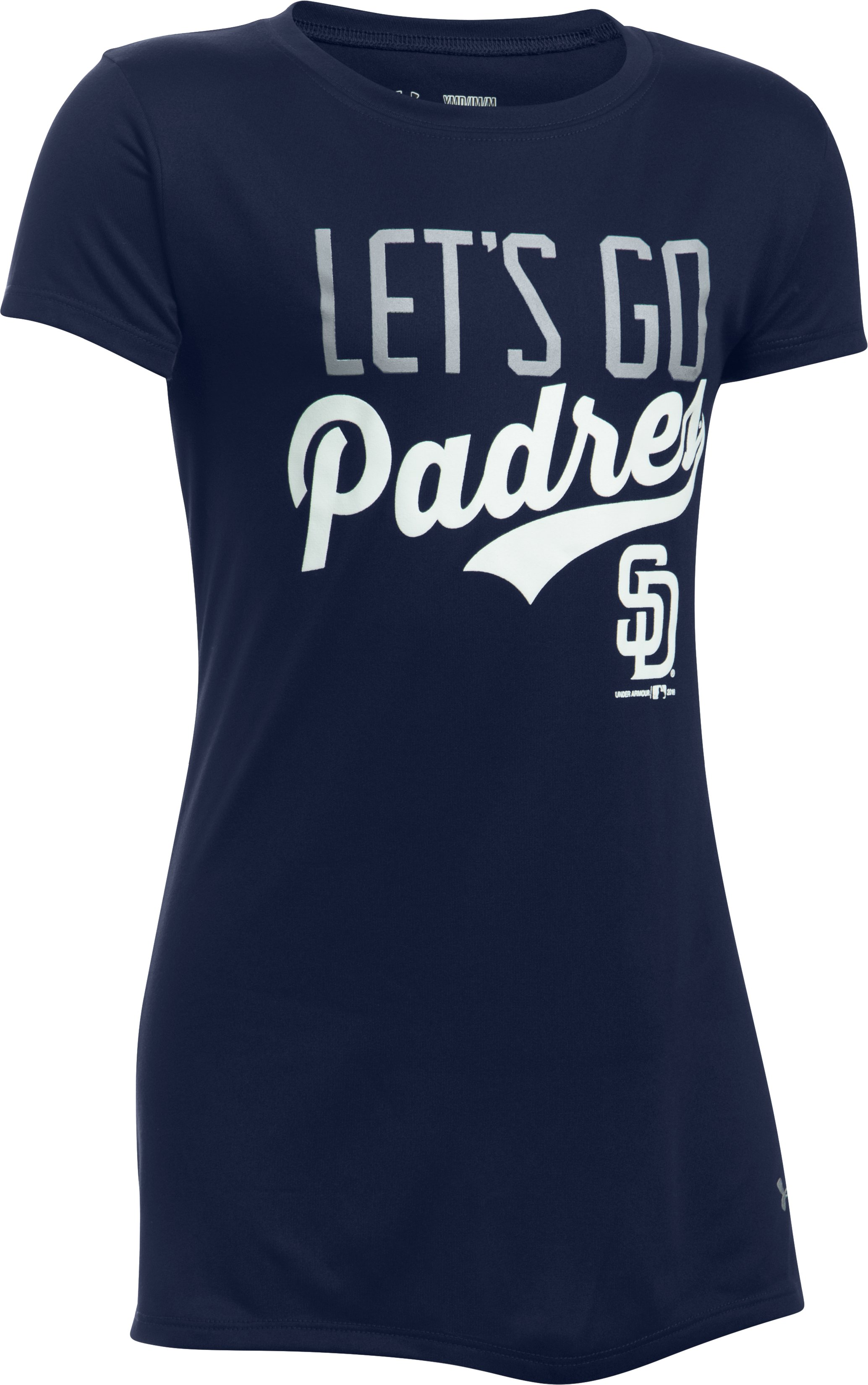 Girls' San Diego Padres UA Tech™ T-Shirt, Midnight Navy, undefined