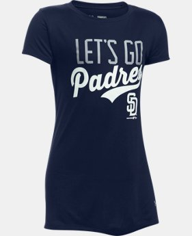 Girls' San Diego Padres UA Tech™ T-Shirt  1  Color Available $24.99