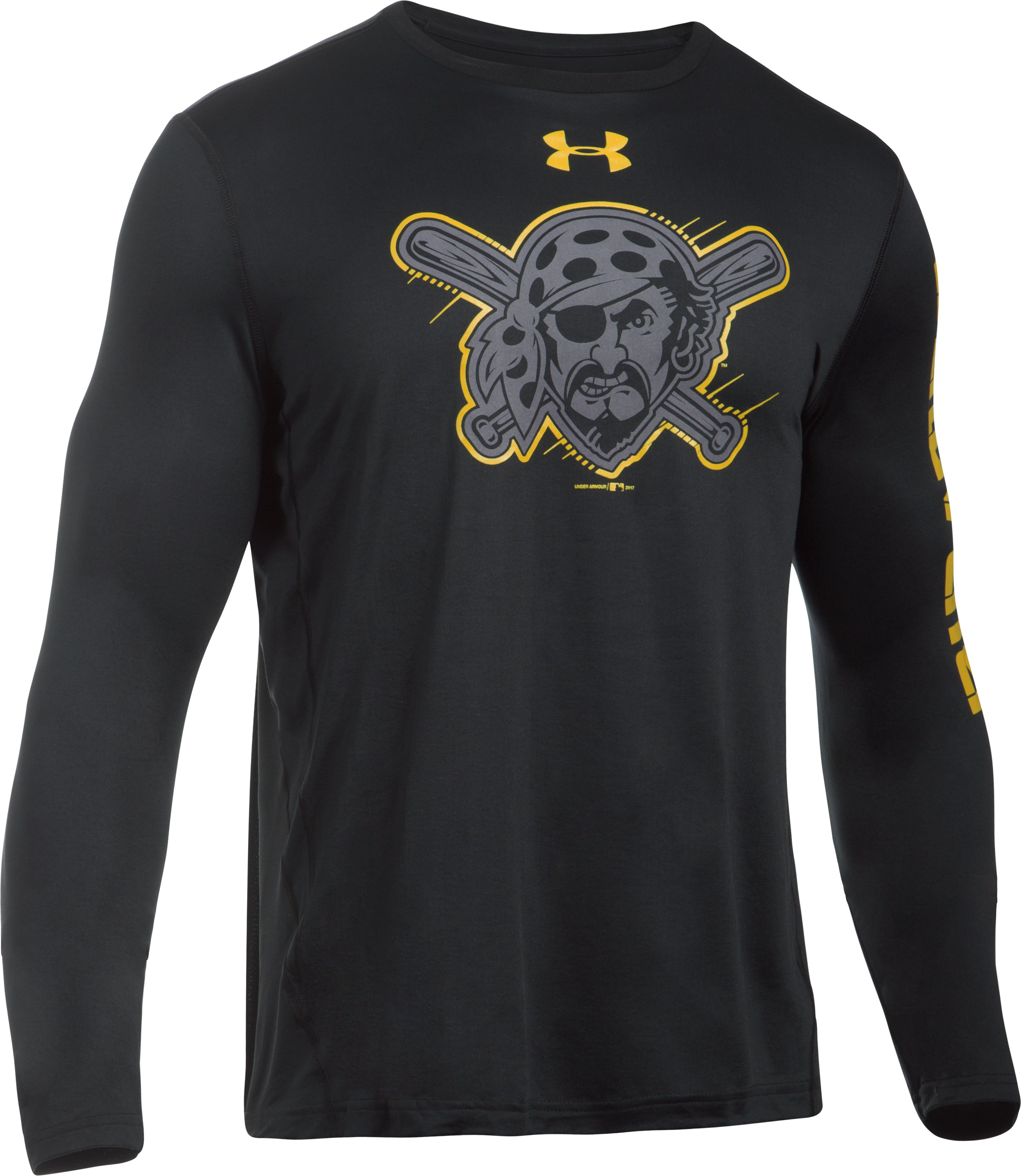 Men's Pittsburgh Pirates UA Tech™ Long Sleeve T-Shirt, Black , undefined