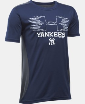 New Arrival Boys' New York Yankees UA Tech™ Blocked T-Shirt  1 Color $26.99