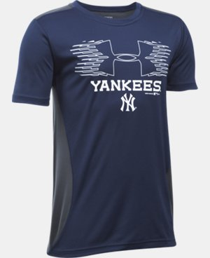 Boys' New York Yankees UA Tech™ Blocked T-Shirt  1 Color $26.99