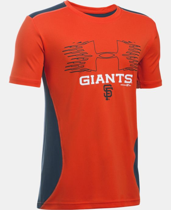 Boys' San Francisco Giants UA Tech™ Blocked T-Shirt   $26.99