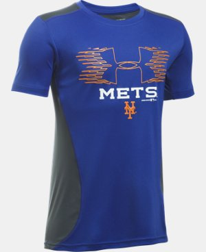 Boys' New York Mets UA Tech™ Blocked T-Shirt   $26.99