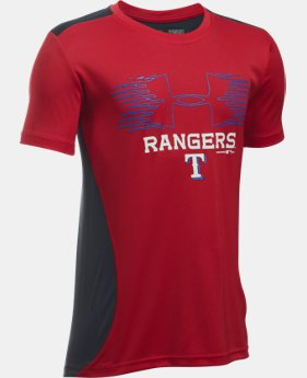 New Arrival Boys' Texas Rangers UA Tech™ Blocked T-Shirt LIMITED TIME: FREE U.S. SHIPPING  $26.99