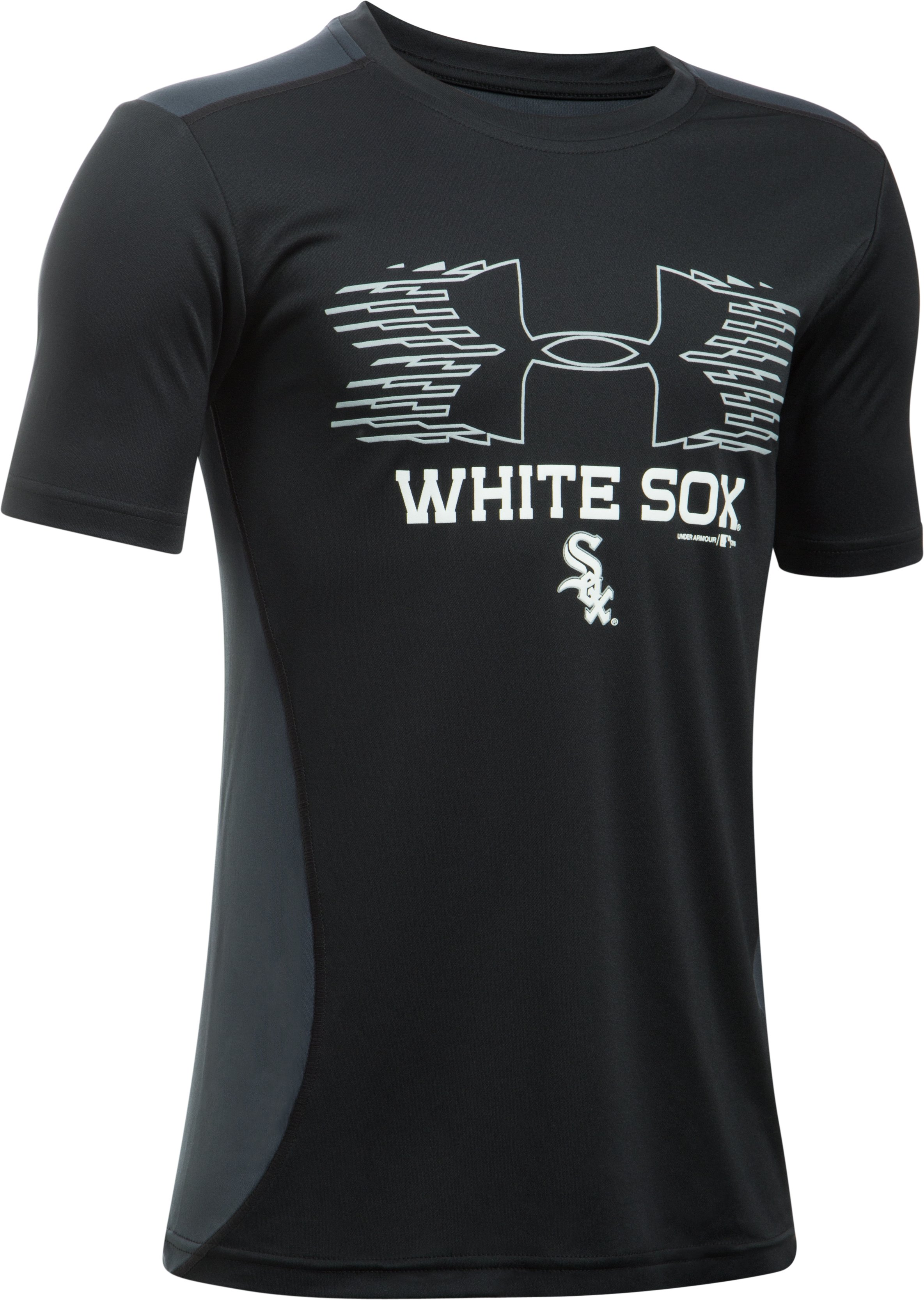 Boys' Chicago White Sox UA Tech™ Blocked T-Shirt, Black
