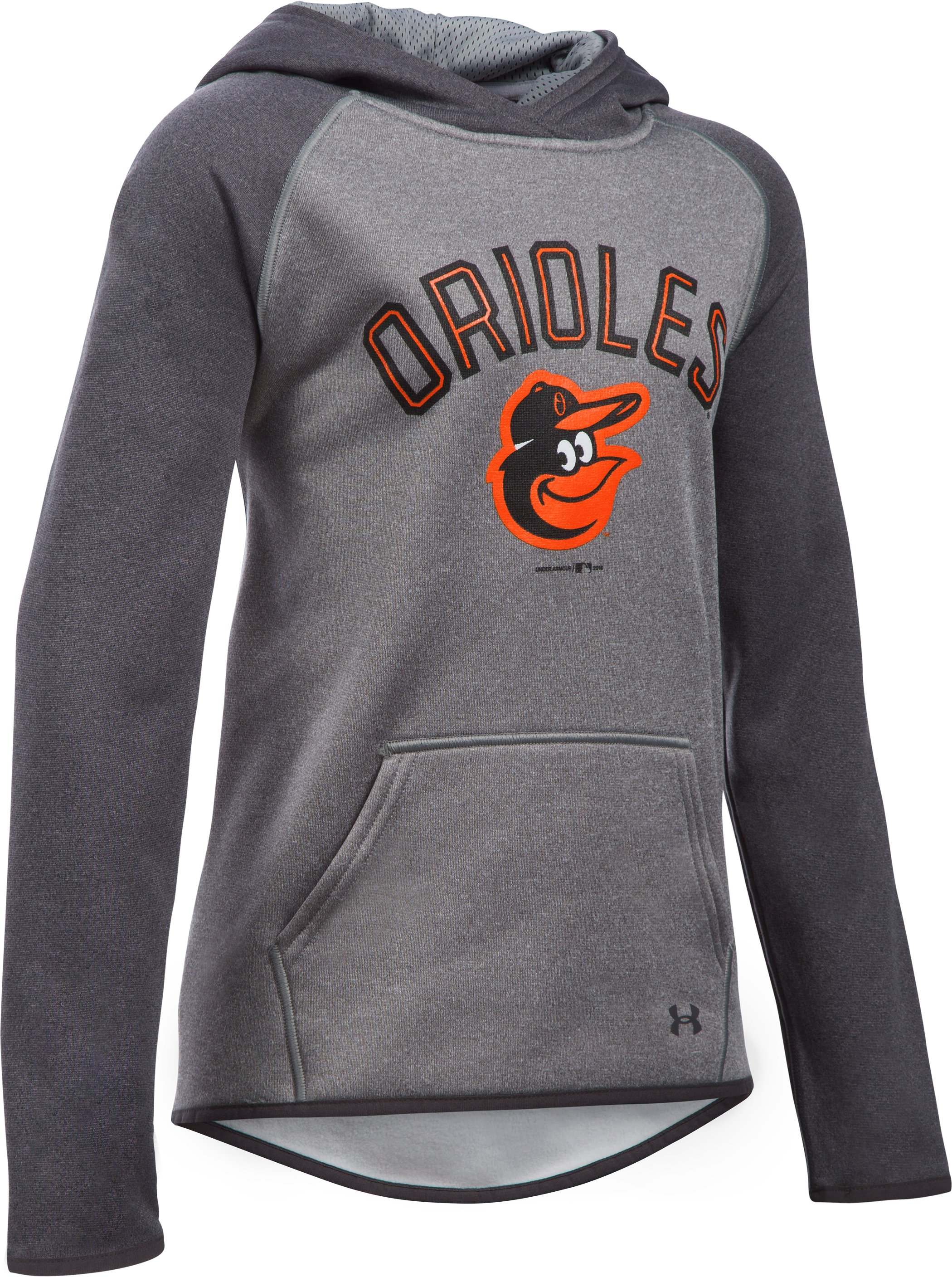 Girls' Baltimore Orioles Armour Fleece® Hoodie, Carbon Heather, undefined