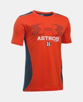 72a30ea137727 New Arrival Boys  Houston Astros UA Tech™ Blocked T-Shirt 1 Color Available