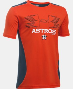 New Arrival Boys' Houston Astros UA Tech™ Blocked T-Shirt LIMITED TIME: FREE U.S. SHIPPING  $26.99