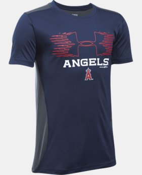 New Arrival Boys' Los Angeles Angels UA Tech™ Blocked T-Shirt LIMITED TIME: FREE U.S. SHIPPING 1  Color Available $26.99