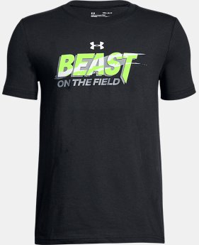 New Arrival Boys' UA Beast On The Field T-Shirt  1 Color $19.99