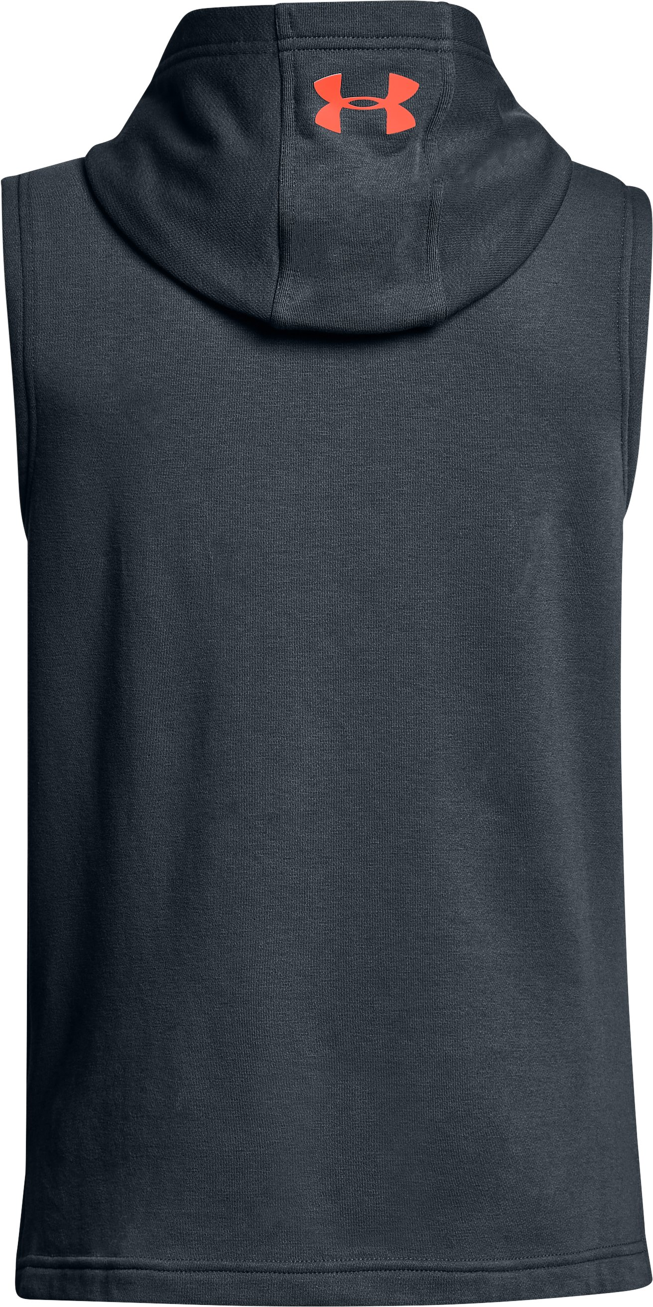Boys' UA Microthread Terry Sleeveless Hoodie, STEALTH GRAY,