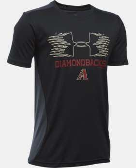 New Arrival Boys' Arizona Diamondbacks UA Tech™ Blocked T-Shirt  1 Color $26.99