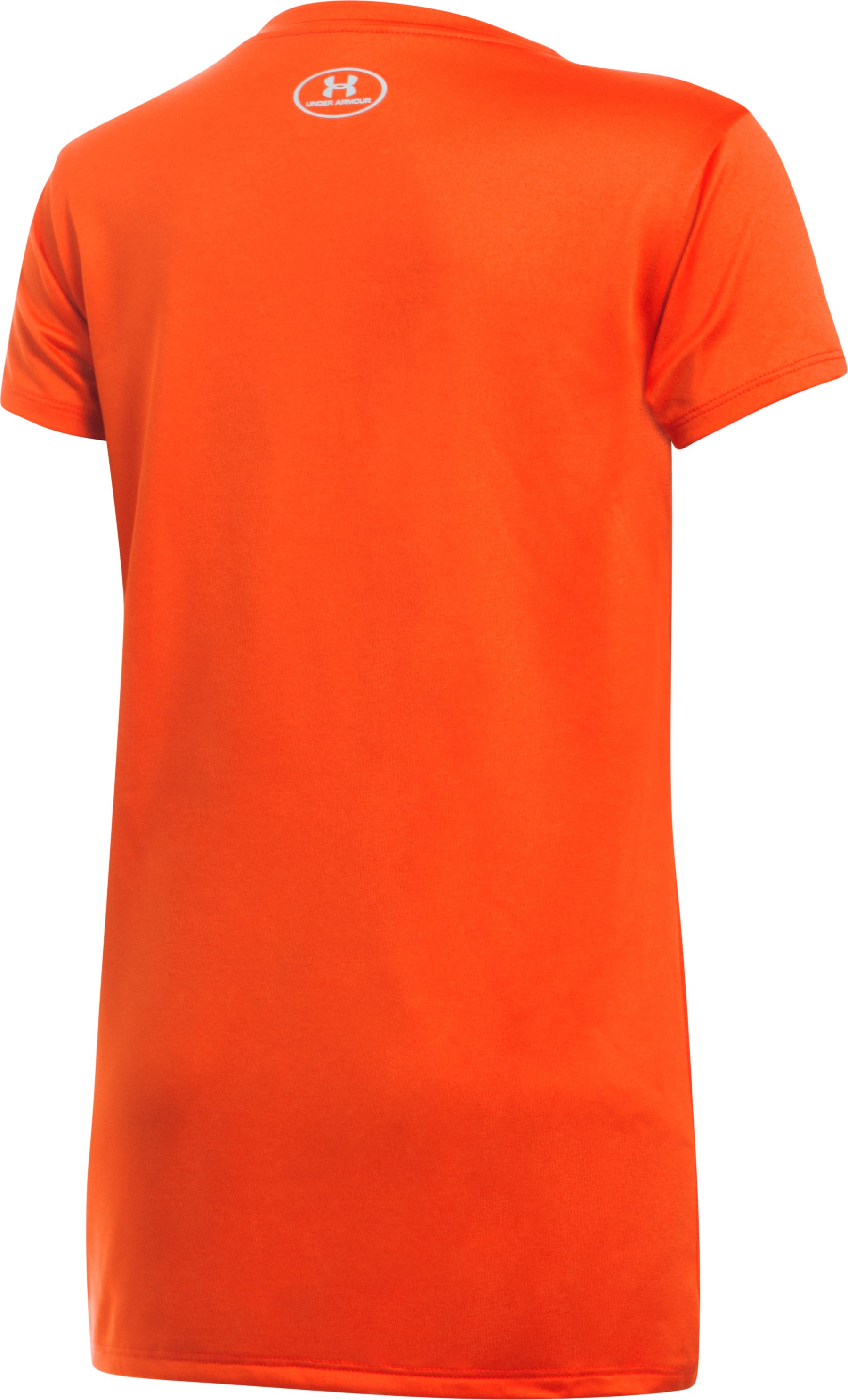 Girls' Baltimore Orioles UA Tech™ T-Shirt, Dark Orange, undefined