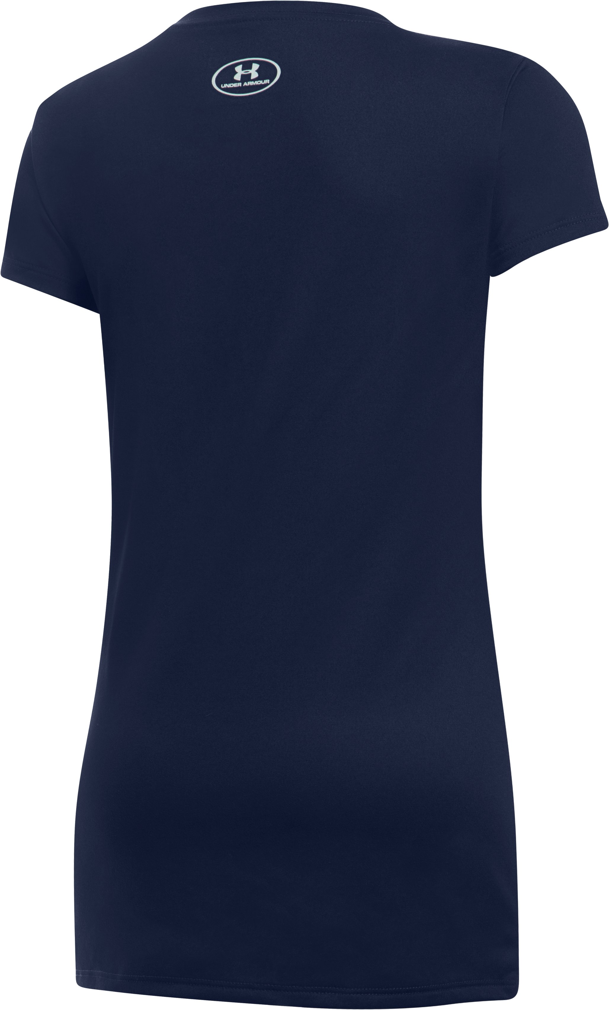 Girls' Detroit Tigers UA Tech™ T-Shirt, Midnight Navy,