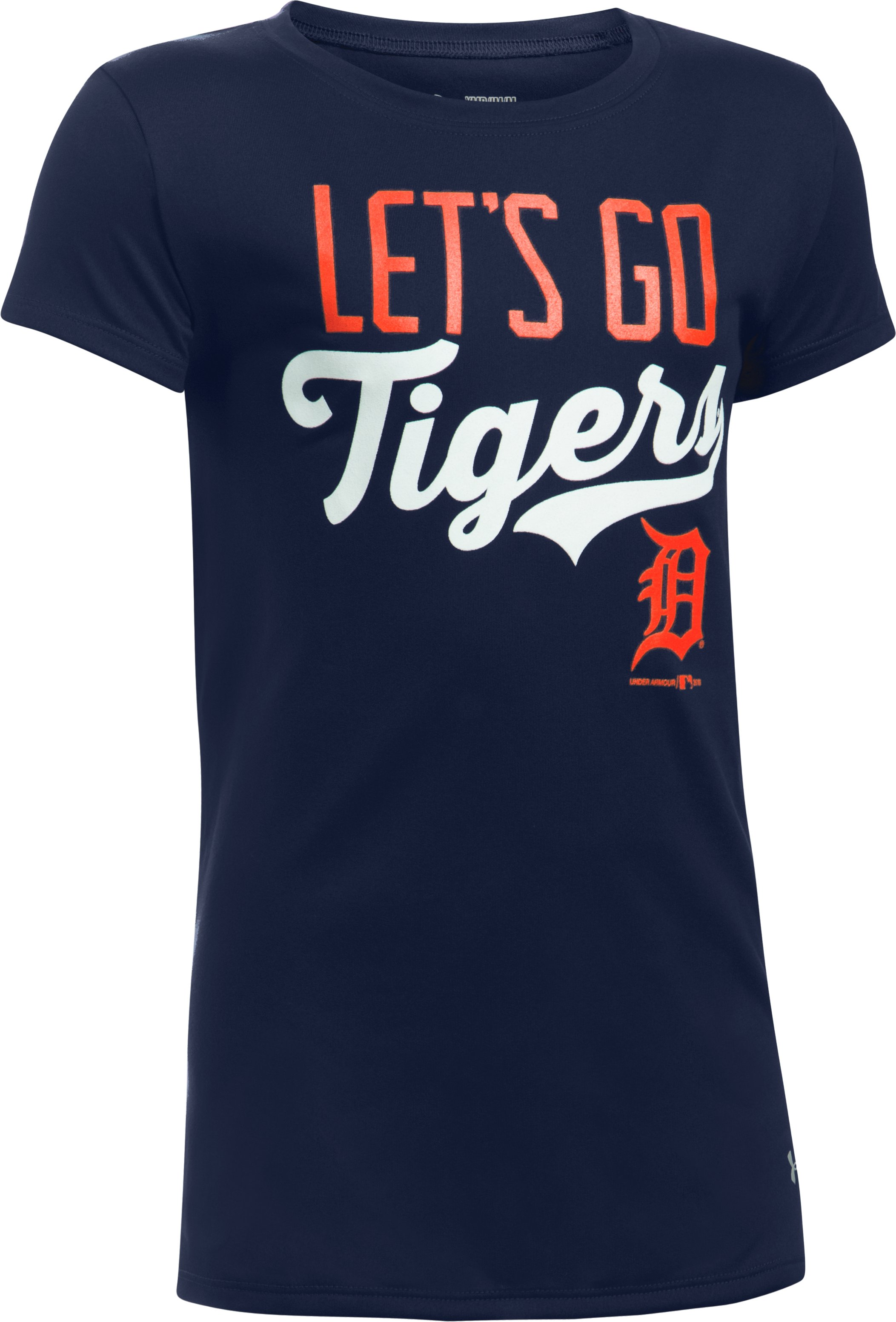 Girls' Detroit Tigers UA Tech™ T-Shirt, Midnight Navy