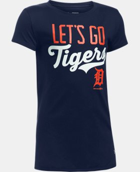 New Arrival Girls' Detroit Tigers UA Tech™ T-Shirt  1  Color Available $24.99