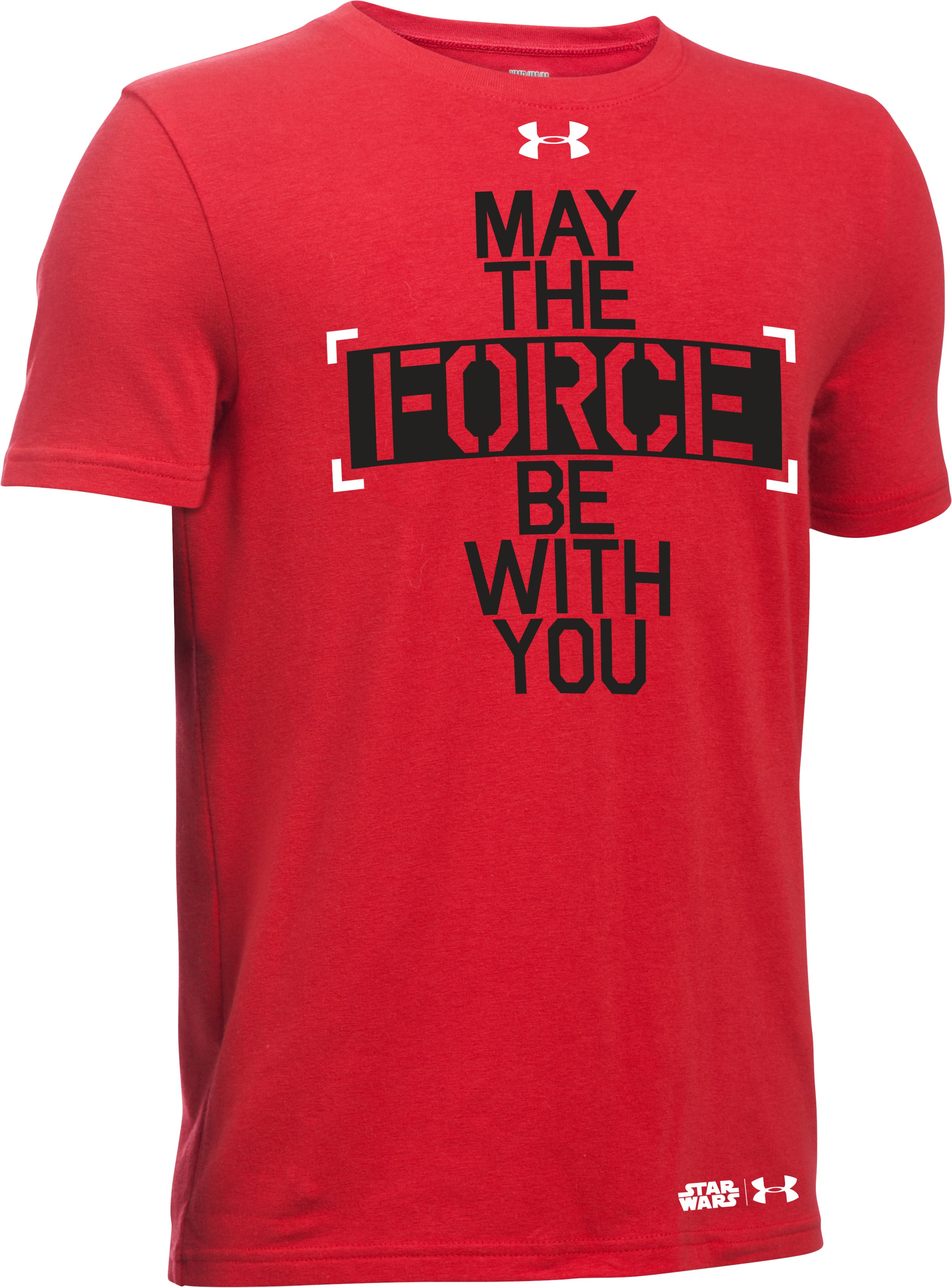 Boys' UA Star Wars Force Be With You T-Shirt, Red
