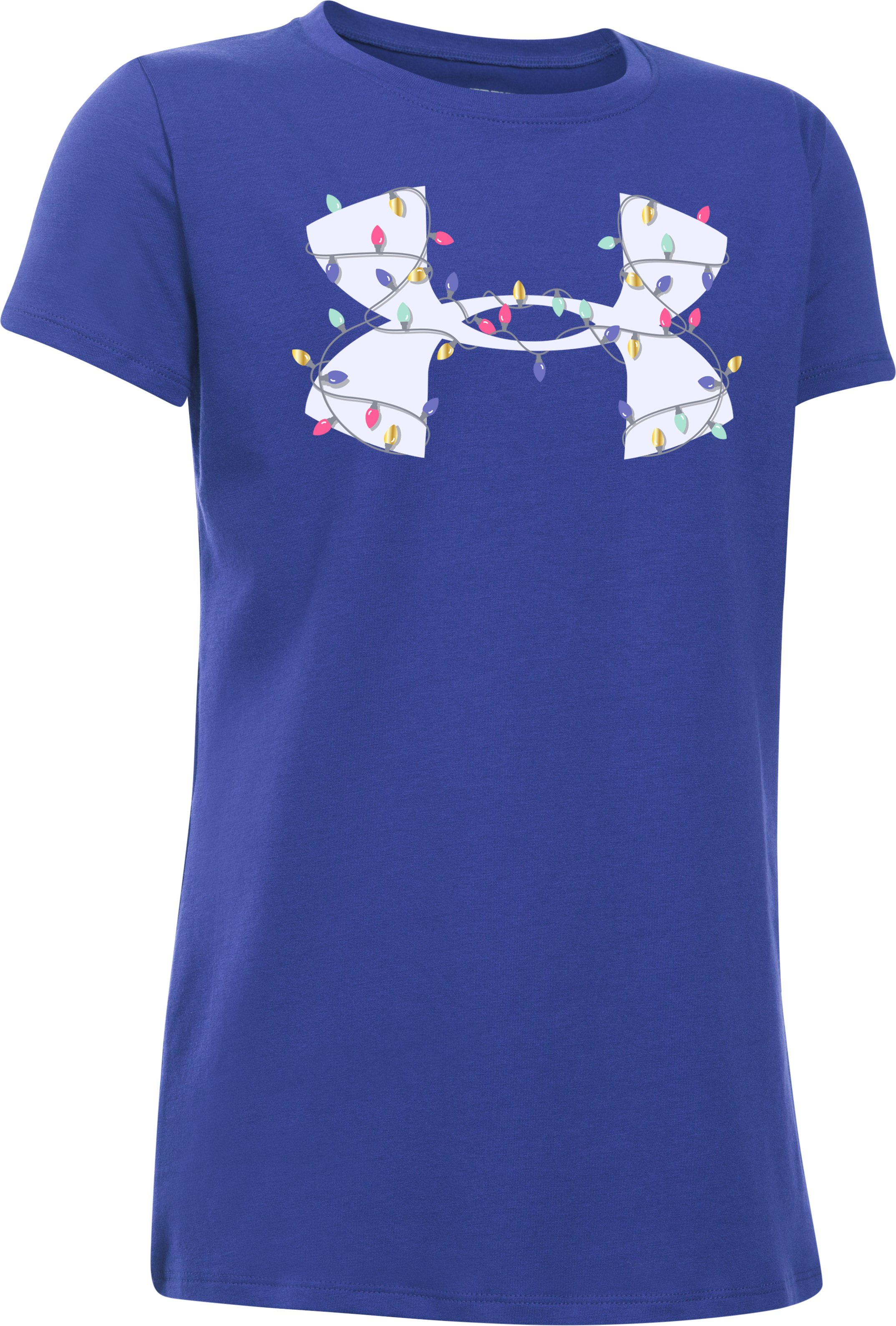 Girls' UA Holiday Big Logo T-Shirt, CONSTELLATION PURPLE