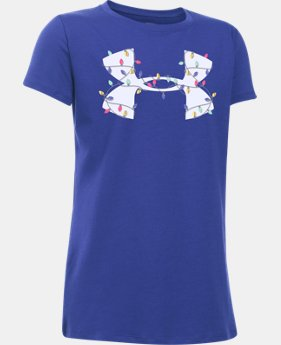 New Arrival Girls' UA Holiday Big Logo T-Shirt  1 Color $19.99
