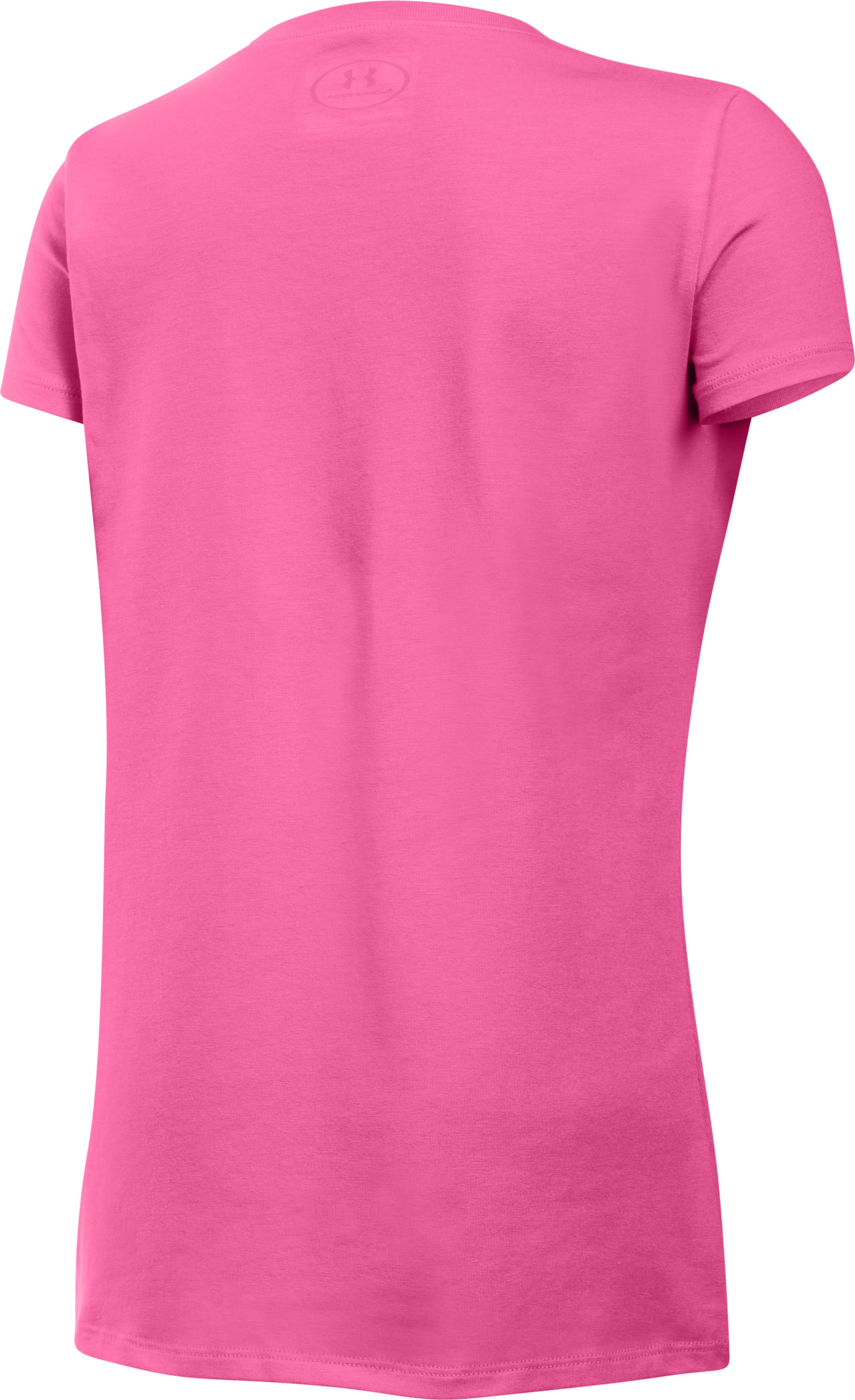 Girls' UA Holiday Sleigh All Day T-Shirt, PINK PUNK, undefined