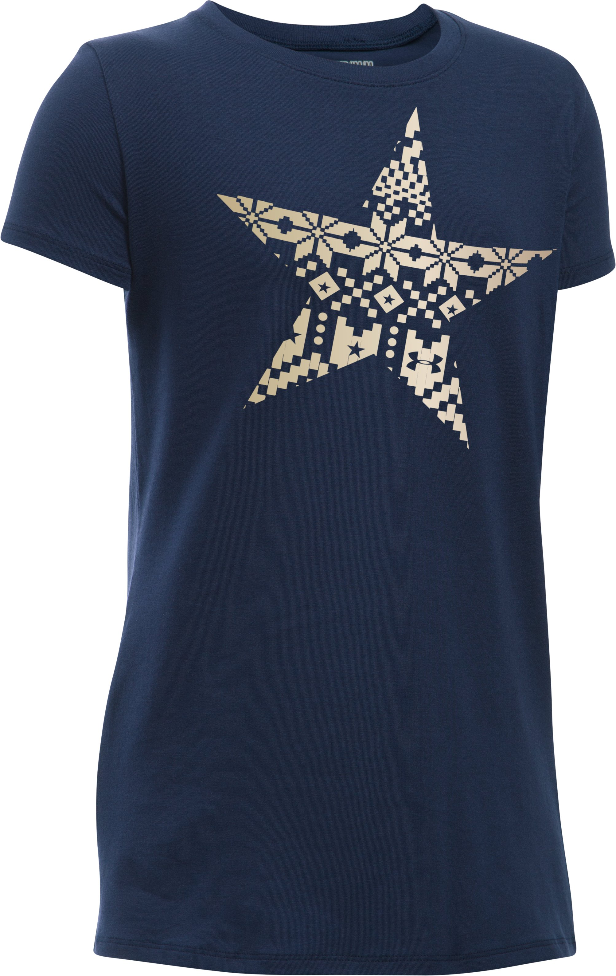 Girls' UA Star T-Shirt, Midnight Navy, zoomed image