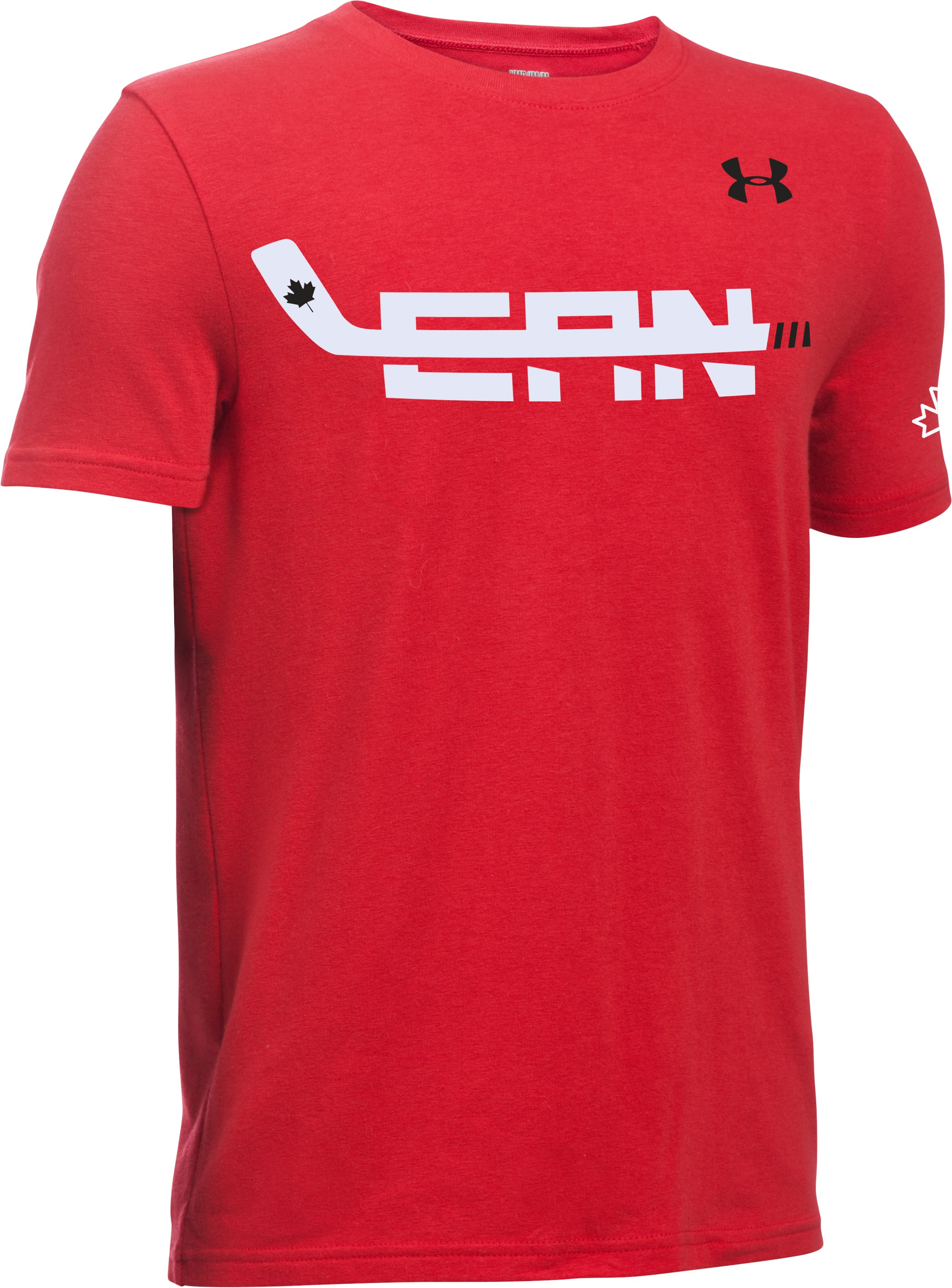 Boys' UA Hockey High Stick T-Shirt, Red