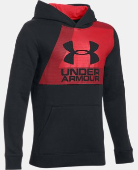 Boys' UA Rival Fleece Hoodie  1 Color $33.74
